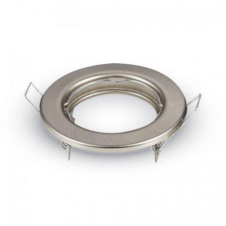 Beépíthető GU10 LED spot lámpa keret, matt króm/fix lámpatest - MK-3585