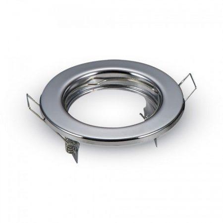 Beépíthető GU10 LED spot lámpa keret, króm/fix lámpatest - MK-3586