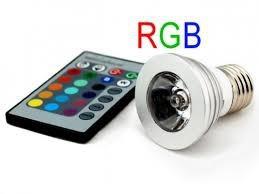 Színváltós RGB LED lámpa izzó E27 távirányítóval