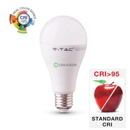V-TAC CRI>95 12W E27 A60 LED izzó - Természetes fehér - 7483