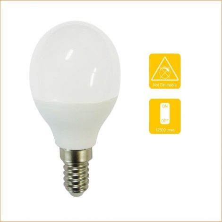 V-TAC 5.5W LED lámpa izzó P45, E14, természetes fehér - 42511