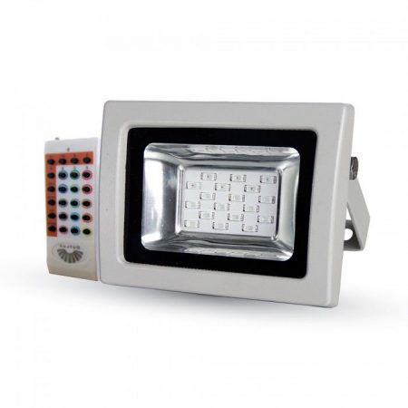 V-TAC rádiófrekvenciás színváltós 10W RGB LED reflektor - 5894