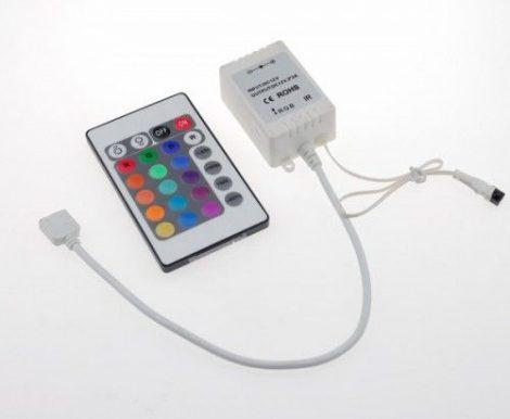 RGB LED szalag vezérlő infrás távirányítóval 72W / 12V