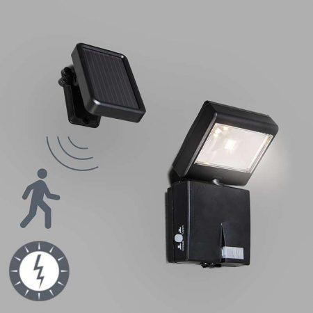 6916H Napelemes, szolár lámpa LED reflektor mozgásérzékelővel