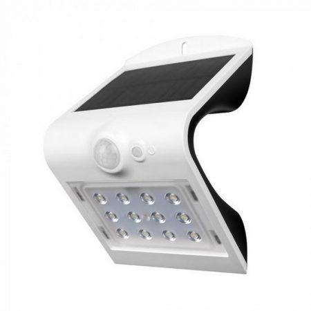 V-TAC napelemes LED lámpa, reflektor mozgásérzékelővel 1,5W, fehér - 8276