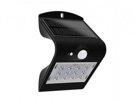 V-TAC napelemes LED lámpa, reflektor mozgásérzékelővel 1,5W, fekete - 8277