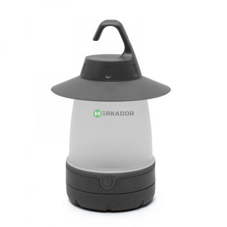 Hordozható elemes LED lámpa, 7W kemping lámpa - szürke