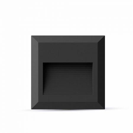 V-TAC fekete házas LED lépcsővilágítás 2W - IP65 - meleg fehér - 1323