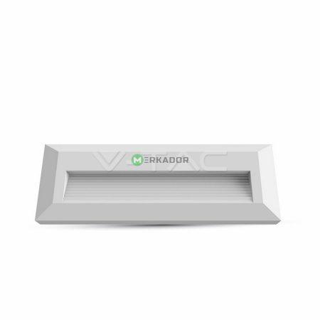 V-TAC fehér házas LED lépcsővilágítás 3W - IP65 - meleg fehér - 1327