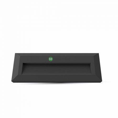 V-TAC fekete házas LED lépcsővilágítás 3W - IP65 - természetes fehér - 1328