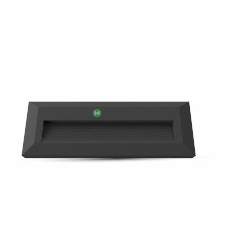 V-TAC fekete házas LED lépcsővilágítás 3W - IP65 - meleg fehér - 1329