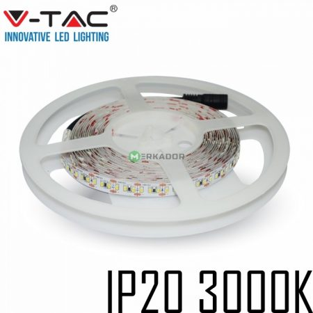 V-TAC beltéri SMD LED szalag, 3528, meleg fehér, 120 LED/m - 2025