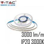 V-TAC beltéri SMD LED szalag, 2835, meleg fehér, 240 LED/m - 2164