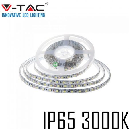 V-TAC kültéri SMD LED szalag, 5050, meleg fehér, 60 LED/m - 2149