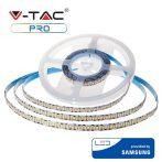 V-TAC beltéri 24V LED szalag, meleg fehér, 240 LED/m - Samsung chip - 320