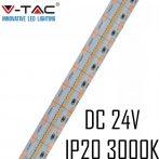 V-TAC beltéri SMD 24V LED szalag, meleg fehér, 700 LED/m - 2602