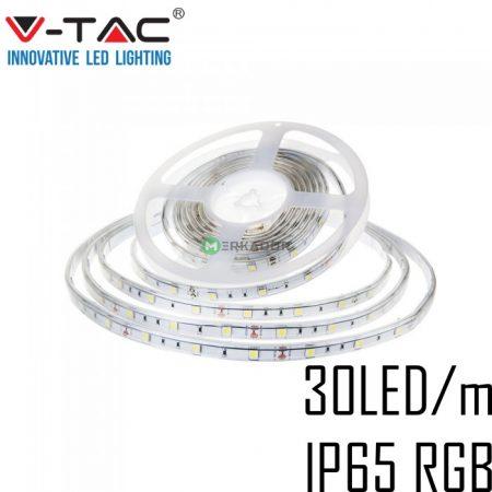 V-TAC kültéri RGB LED szalag 5050 SMD/30 LED/m - 2118