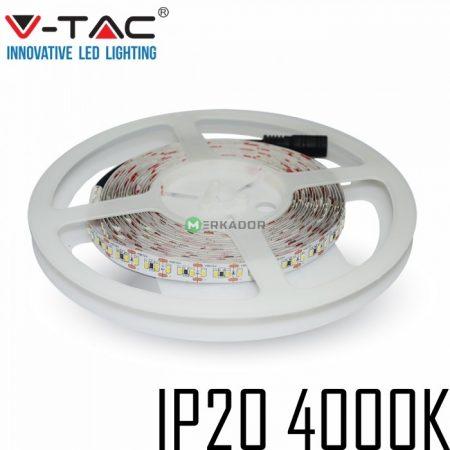 V-TAC beltéri SMD LED szalag, 3528, természetes fehér, 120 LED/m - 2042