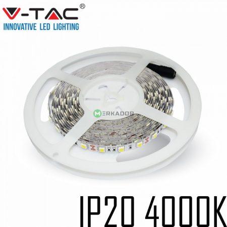 V-TAC beltéri SMD LED szalag, 5050, természetes fehér, 60 LED/m - 2143