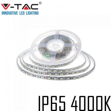 V-TAC kültéri SMD LED szalag, 5050, természetes fehér, 60 LED/m - 2150