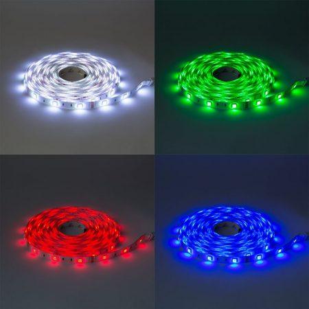 V-TAC 5 m RGB LED szalag szett, IP20, 5050 SMD, 60 LED/m - 2353