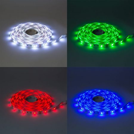 V-TAC 5 m RGB LED szalag szett, IP65, 5050 SMD, 30 LED/m - 2352