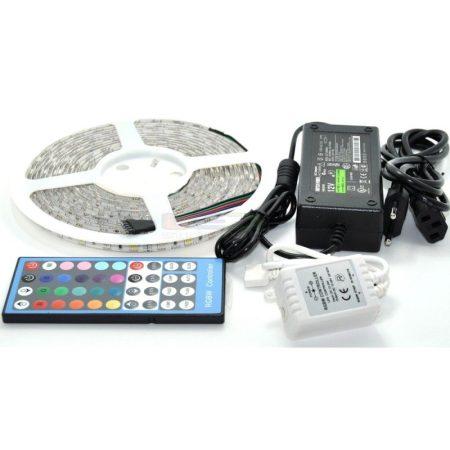 V-TAC 5 m RGB+W LED szalag szett, 5050 SMD/60 LED/m - beltéri - 2358