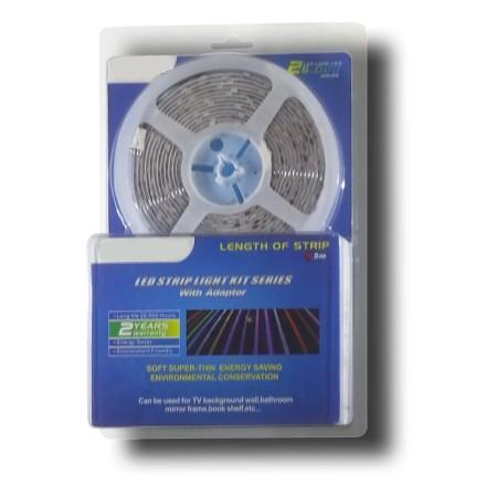 5 m hideg fehér LED szalag szett, 5050 60 SMD LED/m