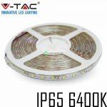 V-TAC kültéri SMD LED szalag, 3528, hideg fehér, 60 LED/m - 2031
