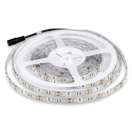 V-TAC kültéri SMD LED szalag, 5050, hideg fehér, 60 LED/m - 2148