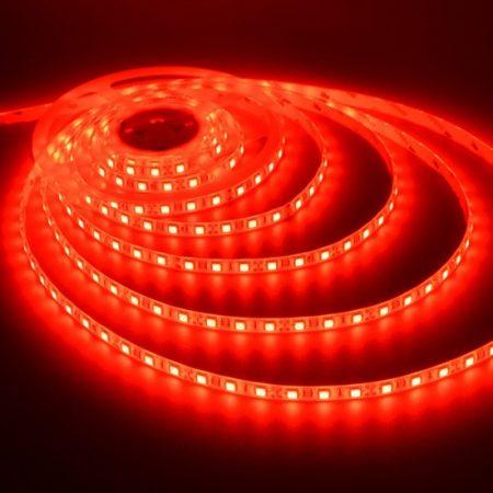 V-TAC 3528 kültéri piros SMD LED szalag 12V 60 LED/m IP65 - 2036