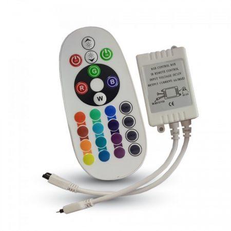 V-TAC RGB LED szalag vezérlő infrás távirányítóval 72W / 12V - 3625