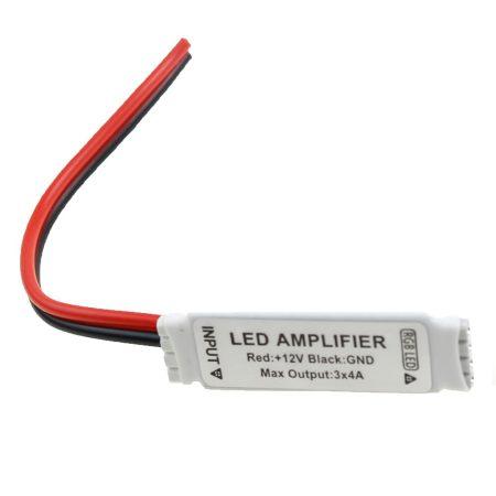 V-TAC szalagközti mini RGB LED szalag jelerősítő, 144W - 3018