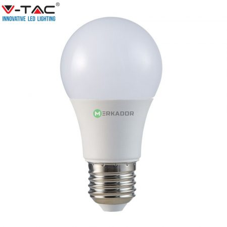V-TAC 9W E27 A60 meleg fehér LED lámpa izzó - 7260