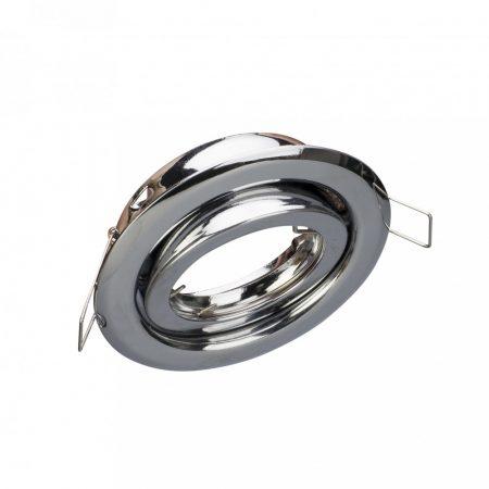 V-TAC billenthető beépíthető króm spot lámpa keret, lámpatest - 3471