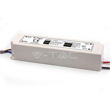 V-TAC IP67 kültéri hálózati adapter, LED tápegység 12V 8A 100W - 3236