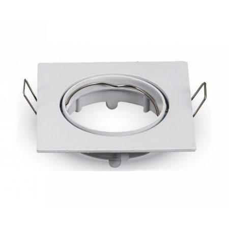 Billenthető beépíthető fehér spot lámpa keret, négyzet lámpatest 82x82 mm - MK-3590