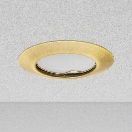 Phenomlight beépíthető GU10 LED spot lámpa keret, arany színű fix lámpatest