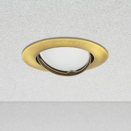 Phenomlight beépíthető billenthető GU10 LED spot lámpa keret, arany színű lámpatest