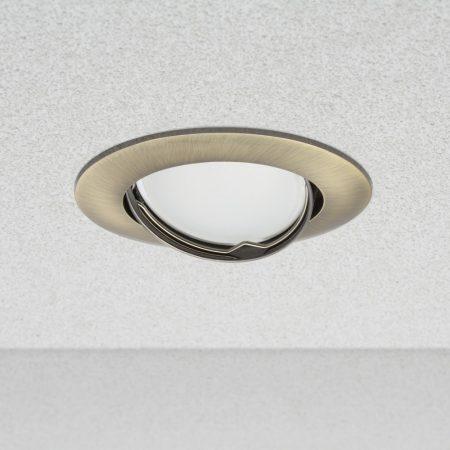 Phenomlight beépíthető billenthető GU10 LED spot lámpa keret, patinált réz lámpatest