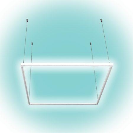 Természetes fehér LED panel 40W, 60 x 60cm driverrel, függesztékkel