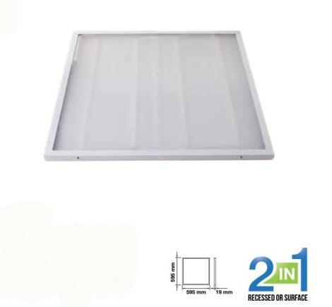 V-TAC 2in1 mennyezeti LED panel 36W - 60 x 60cm - 6400K - 6381