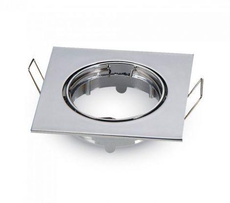 Billenthető beépíthető króm spot lámpa keret, négyzet lámpatest 82x82 mm - MK-3592