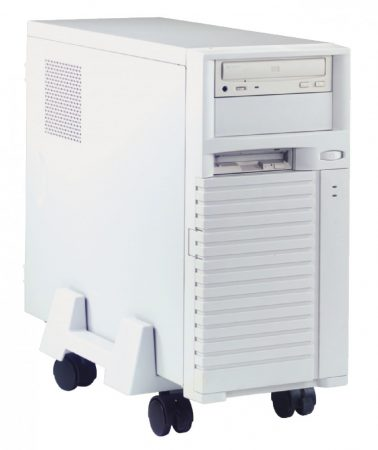 Gurulós asztali számítógéptartó