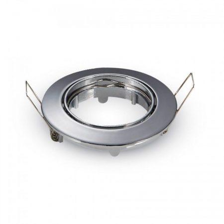 V-TAC billenthető beépíthető króm spot lámpa keret, lámpatest - 3589