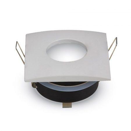 IP54 LED lámpa spot keret, beépíthető lámpatest - négyzet, fehér - MK-3615