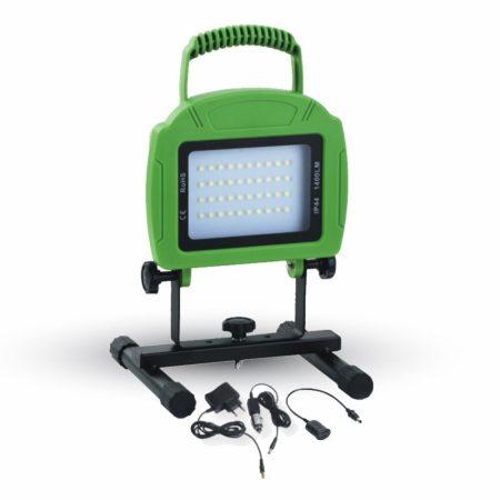 V-TAC hordozható 20W akkus LED reflektor USB töltővel - 5735