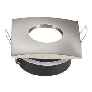 V-TAC IP54 LED lámpa spot keret, beépíthető lámpatest - négyzet, matt króm - 3616