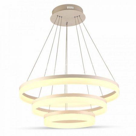 V-TAC exkluzív három szintes mennyezeti LED csillár - meleg fehér - 3906