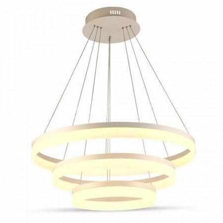 V-TAC exkluzív három szintes mennyezeti LED csillár - természetes fehér - 3907